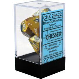 Chessex Gemini Polyhedral 7-Die Set - Blue-Gold w/white