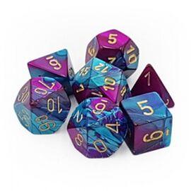 Chessex Gemini Polyhedral 7-Die Set - Purple-Teal w/gold