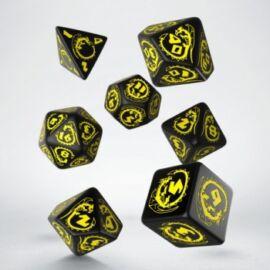 Dragons Black & yellow Dice Set (7)