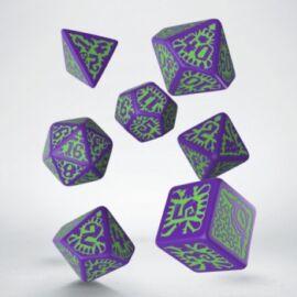 Pathfinder Goblin Purple & green Dice Set (7)