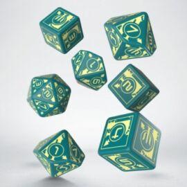 Polaris RPG Turquoise & light yellow dice, 3D6 +3D10 + 1D20 (7)