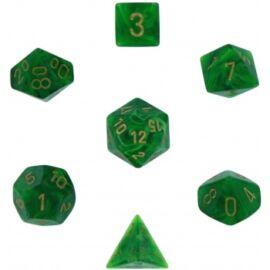 Chessex Vortex 7-Die Set - Green w/gold