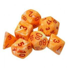 Chessex Festive Polyhedral 7-Die Set - Sunburst w/red