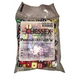 Chessex Dice Assortments Pound-o-d6 (80-100 Dice)
