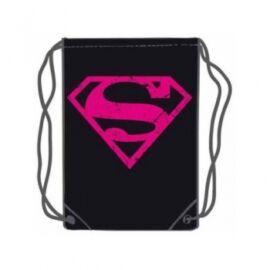 Superman Pink Logo Gym Bag