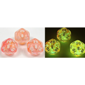 Chessex Lab Dice 4 - 7 Die Set Nebula Supernova/White Luminary