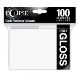 UP - Standard Sleeves - Gloss Eclipse - Arctic White (100 Sleeves)