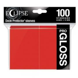 UP - Standard Sleeves - Gloss Eclipse - Apple Red (100 Sleeves)