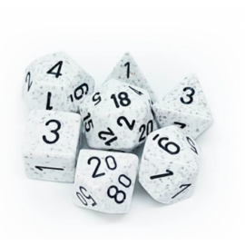 Chessex Speckled Polyhedral 7-Die Set - Arctic Camo