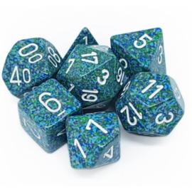 Chessex Speckled Polyhedral 7-Die Set - Sea