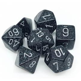 Chessex Speckled Polyhedral 7-Die Set - Ninja