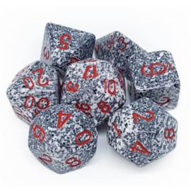 Chessex Speckled Polyhedral 7-Die Set - Granite