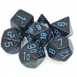 Chessex Speckled Polyhedral 7-Die Set - Blue Stars