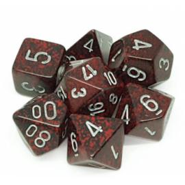 Chessex Speckled Polyhedral 7-Die Set - Silver Volcano