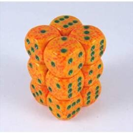 Chessex Speckled 16mm d6 with pips Dice Blocks (12 Dice) - Lotus