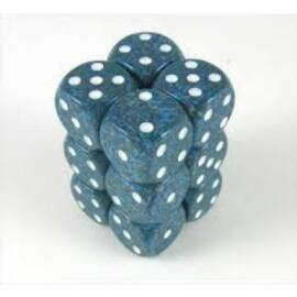Chessex Speckled 16mm d6 with pips Dice Blocks (12 Dice) - Sea