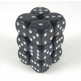 Chessex Speckled 16mm d6 with pips Dice Blocks (12 Dice) - Ninja