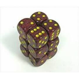 Chessex Speckled 16mm d6 with pips Dice Blocks (12 Dice) - Mercury