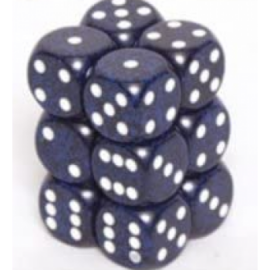 Chessex Speckled 16mm d6 with pips Dice Blocks (12 Dice) - Stealth