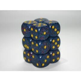 Chessex Speckled 16mm d6 with pips Dice Blocks (12 Dice) - Twilight