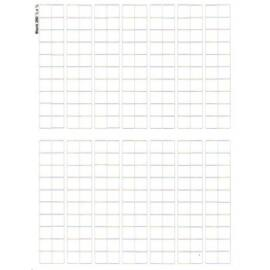 Full Sheet Blank white 1/2 inch counters