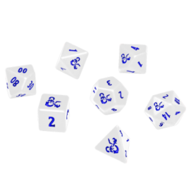 UP - Heavy Metal Icewind Dale 7 RPG Dice Set for Dungeons & Dragons: White