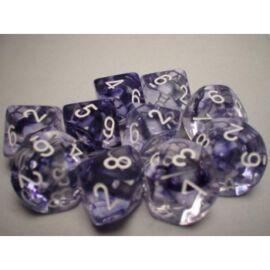 Chessex Ten D10 Sets - Nebula Black w/white