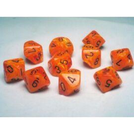 Chessex Ten D10 Sets - Vortex Orange w/black