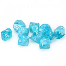 Chessex Ten D10 Sets - Cirrus Aqua w/silver