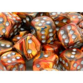Chessex 16mm d6 with pips Dice Blocks (12 Dice) - Lustrous Gold w/silver