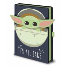 Pyramid Premium A5 Notebook - Star Wars: The Mandalorian (I'm All Ears Crib)