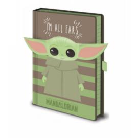 Pyramid Premium A5 Notebook - Star Wars: The Mandalorian (I'm All Ears Green)