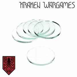 Kraken Wargames - Clear Base round 25x3mm (10)