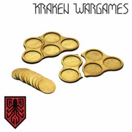 Kraken Wargames - 25mm Movement Tray Pack