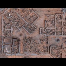 "Kraken Wargames Gaming Mat - Desert Warzone City 30x22"" Kill Team and Warcry 2.0"""
