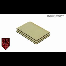 Kraken Wargames - MDF Base square 150x100mm (3)