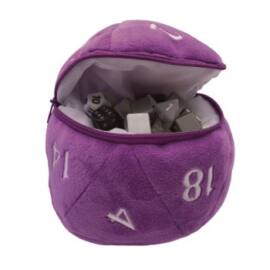 UP - D20 Plush Dice Bag - Purple