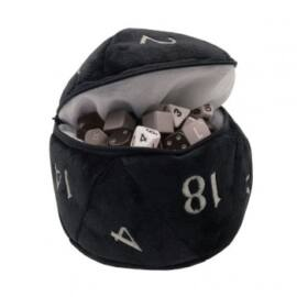 UP - D20 Plush Dice Bag - Black