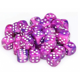 Chessex Signature 12mm d6 with pips Dice Blocks (36 Dice) - Festive Violet w/white