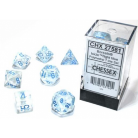 Chessex Borealis Icicle/light blue Luminary Set of Ten d10s