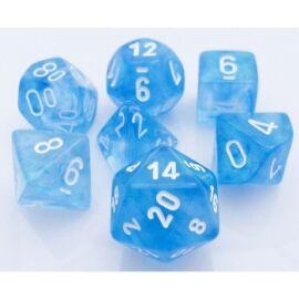 Chessex Borealis Polyhedral Sky Blue/white 7-Die Set