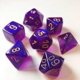 Chessex Borealis Polyhedral Royal Purple/gold Luminary 7-Die Set