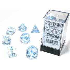 Chessex Borealis 16mm d6 Icicle/light blue Luminary Dice Block (12 dice)