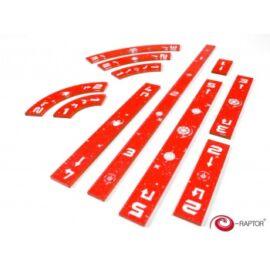 e-Raptor Rulers Set SWX Orange