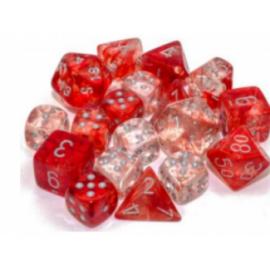 Chessex 7 Die Sets - Nebula TM Red/silver Luminary 7-Die Set