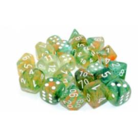 Chessex 16mm d6 Blocks - Nebula TM 16mm d6 Spring/white Luminary Dice Block (12 dice)