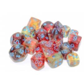 Chessex 16mm d6 Blocks - Nebula TM 16mm d6 Primary/blue Luminary Dice Block (12 dice)