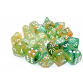 Chessex 12mm d6 Blocks - Nebula TM 12mm d6 Spring/white Luminary Dice Block (36 dice)