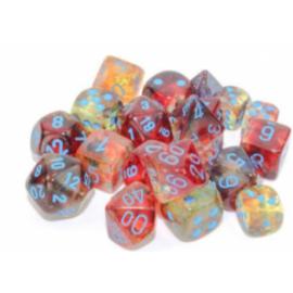 Chessex 12mm d6 Blocks - Nebula TM 12mm d6 Primary/blue Luminary Dice Block (36 dice)