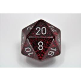 Chessex Speckled 34mm 20-Sided Dice - Silver Volcano